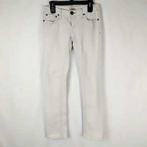 Free People 4930 Womens White Denim Mid-Rise Color
